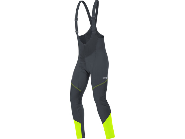 GORE WEAR C3 Windstopper Thermo Bib Tights Men black/neon yellow